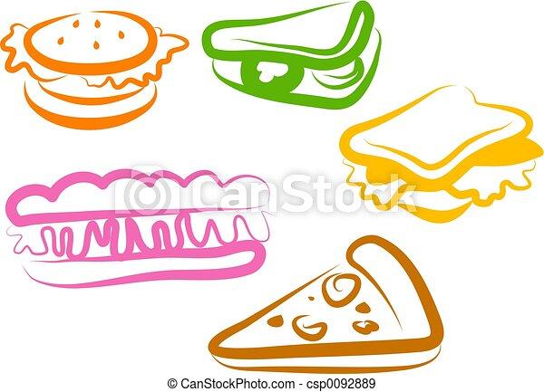 snack, iconen - csp0092889