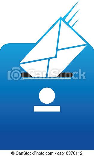 Snail mail correspondence - csp18376112