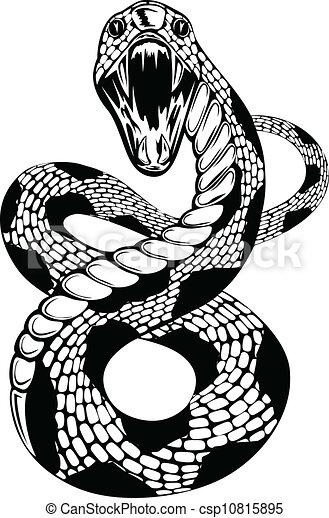snake attacke - csp10815895