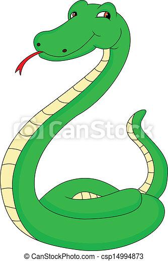 snake cartoon - csp14994873