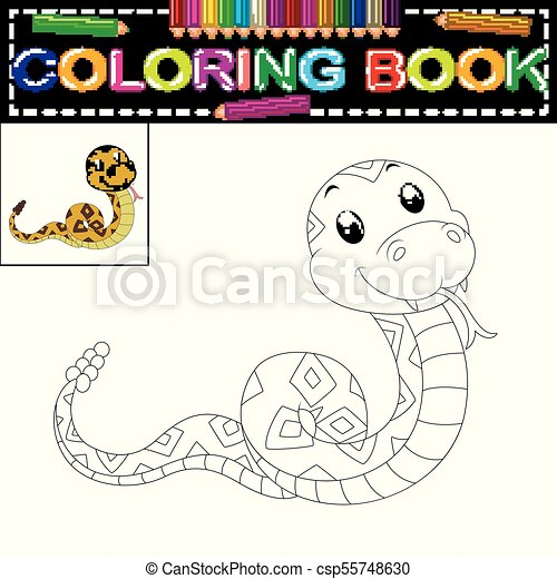 Illustration of snake coloring book vectors - Search Clip Art ...