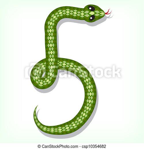 Snake font. Digit 5 - csp10354682
