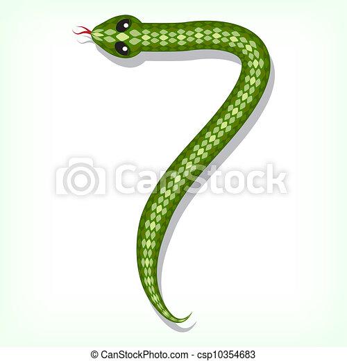 Snake font. Digit 7 - csp10354683