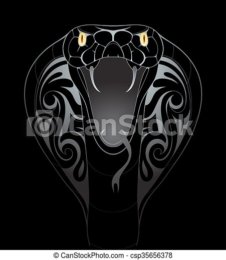 Snake head illustration - csp35656378