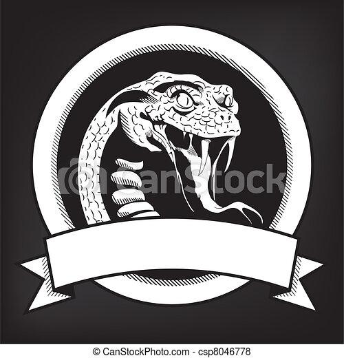 Snake Illustration Emblem - csp8046778