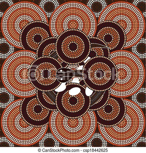 Snake A Illustration Based On Aboriginal Style Of Dot Painting