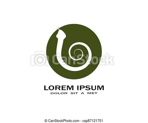 Snake logo vector - csp87121751