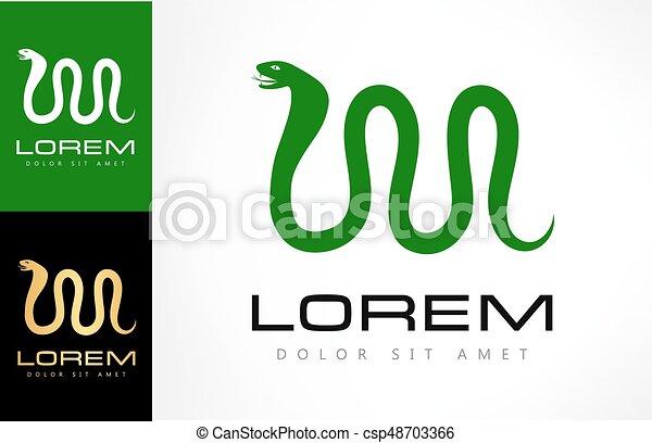 Snake logo vector. Design vector. - csp48703366