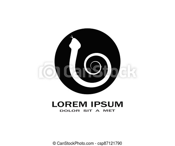 Snake logo vector - csp87121790