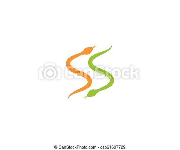 Snake logo vector - csp61607729