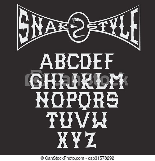 Snake Style Gothic Alphabet