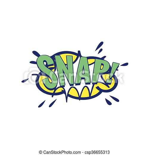 Snap Comic Speech Bubble - csp36655313