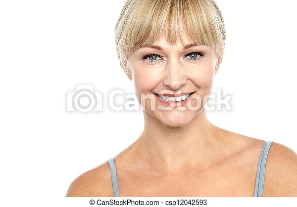 Snap shot of a cheerful sexy blonde - csp12042593