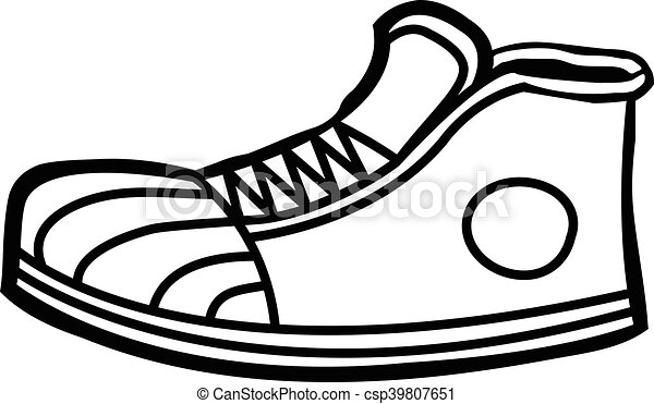 sneaker cartoon icon clipart vector search illustration drawings rh canstockphoto com sneaker vector art sneaker vector icon