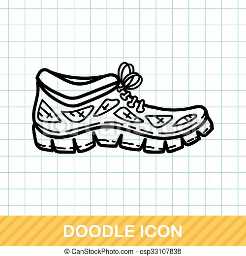 sneaker doodle - csp33107838