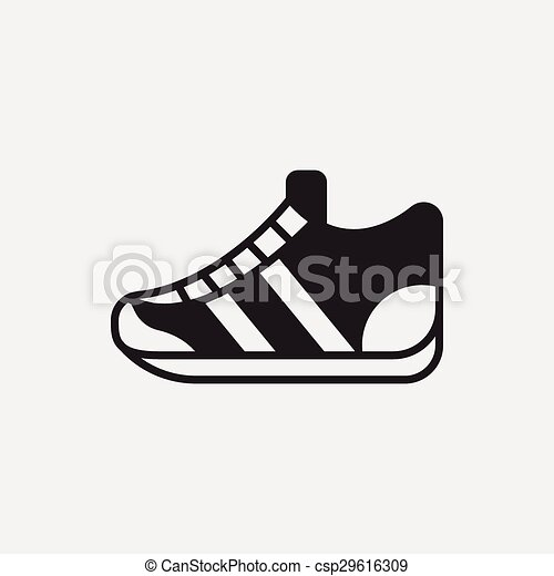 sneaker icon vector clipart search illustration drawings and eps rh canstockphoto ca sneaker vector download speaker vector graphics photoshop brush
