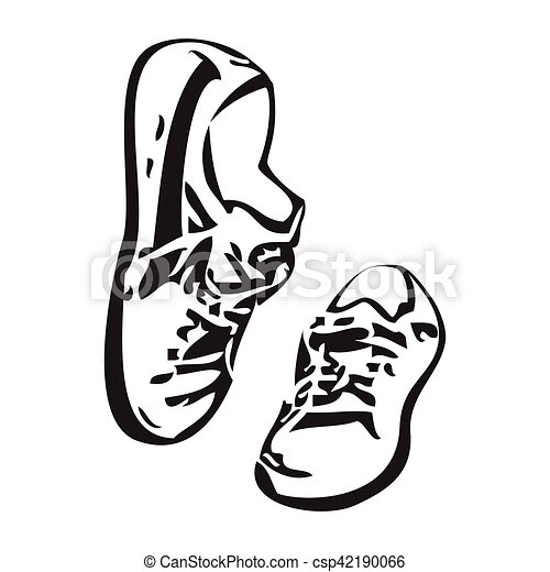 sneakers shoes vector sketch drawing illustration sneakers clip rh canstockphoto com shoes victor ny shoes vector free