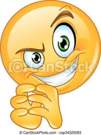 Sneaky emoticon - csp34325083