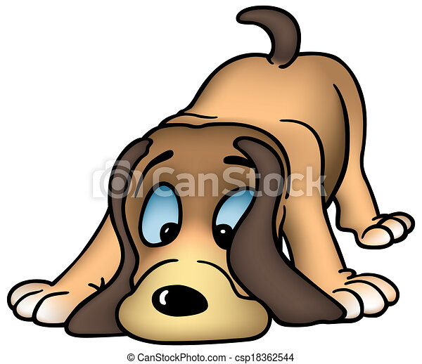 sniffing dog colored cartoon illustration vector eps vector rh canstockphoto com dog vector images dog paw vector art