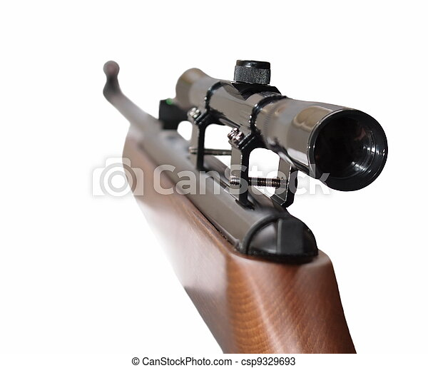 Snipe rifle first person isolated  - csp9329693