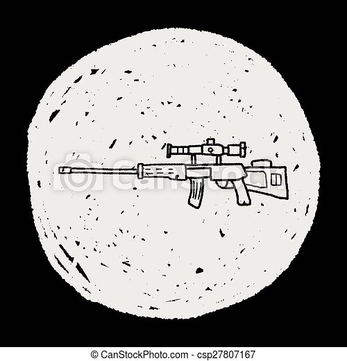Sniper rifle doodle - csp27807167