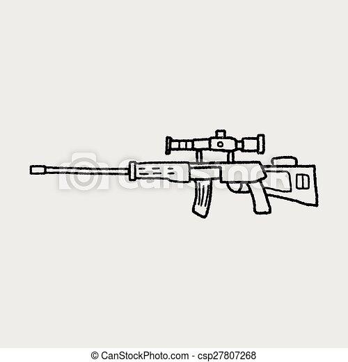 Sniper rifle doodle - csp27807268
