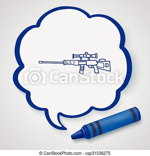 Sniper rifle doodle - csp31536275