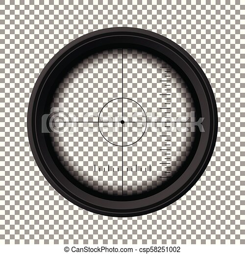 sniper rifle scope military weapon view template of optical glass