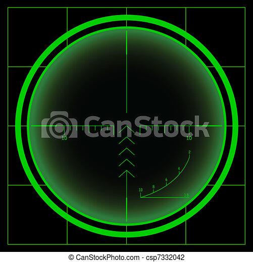 Sniper's cross or radar screen  - csp7332042