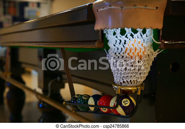 Snooker ball on snooker table - csp24785866
