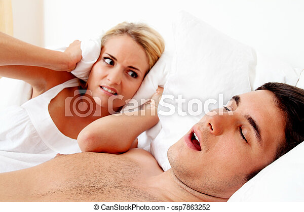 snore while sleeping - csp7863252