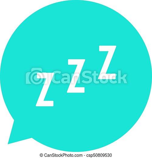snoring sign in green speech bubble