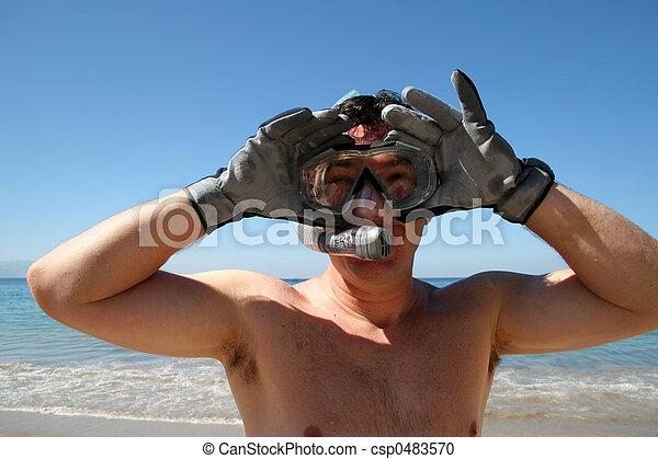 snorkeling, człowiek - csp0483570