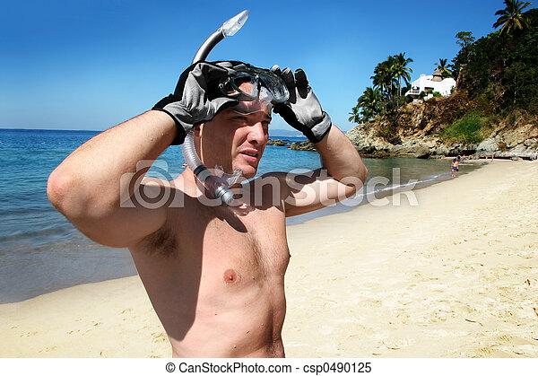 snorkeling, człowiek - csp0490125