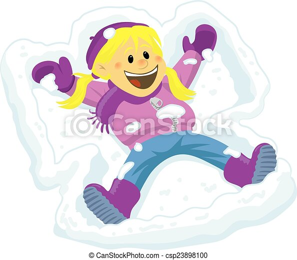 snow angel young girl making a snow angel and laughing rh canstockphoto com Snow Globe Clip Art Snow Globe Clip Art