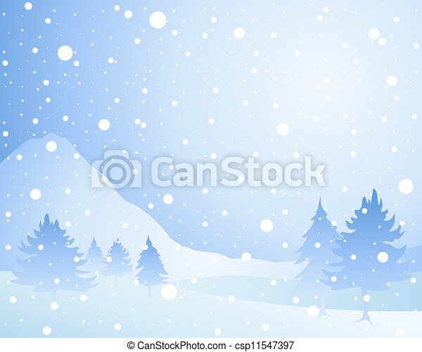 snow background - csp11547397