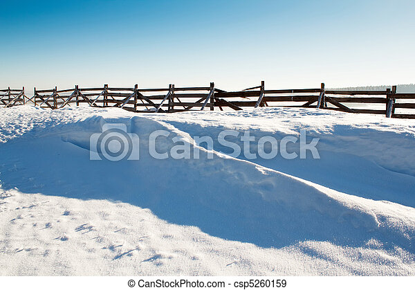 snow background with wave and snowdrift - csp5260159