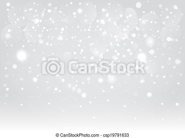 Snow bokeh background. Vector EPS10. - csp19791633