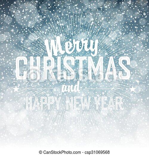 Nieve cayendo. Feliz Navidad - csp31069568