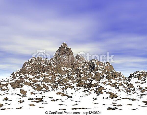 Snow capped peaks (CGI) - csp4240604