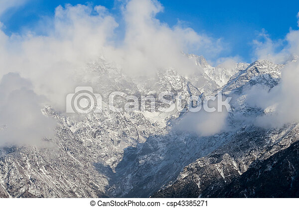 Snow Covered Mountains - csp43385271
