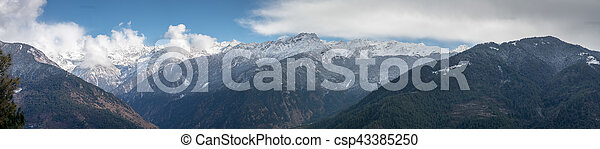 Snow Covered Mountains - csp43385250
