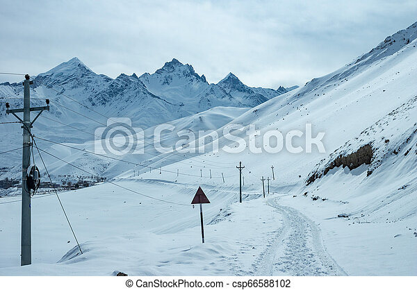Snow Covered Road - csp66588102