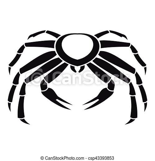 Snow crab icon, simple style - csp43393853