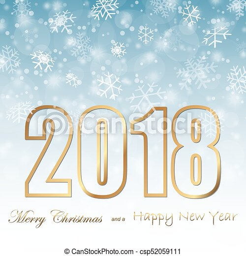 snow fall background for christmas and new year 2018 csp52059111