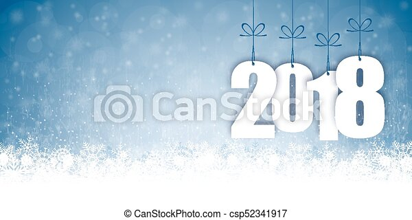 snow fall background for christmas and New Year 2018 - csp52341917