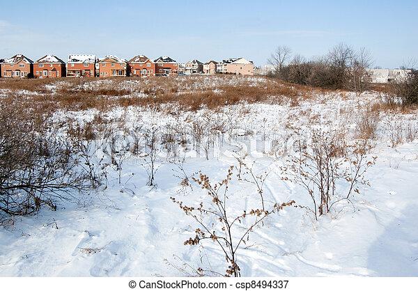 snow field - csp8494337