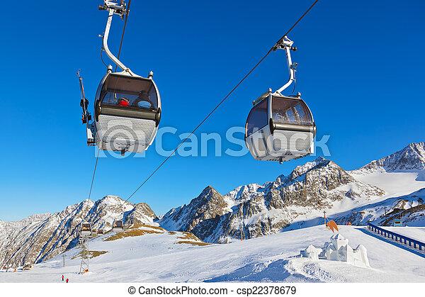 Snow fort in mountains ski resort - Innsbruck Austria - csp22378679
