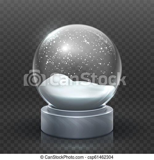 snow globe christmas holiday snowglobe empty glass xmas snowball