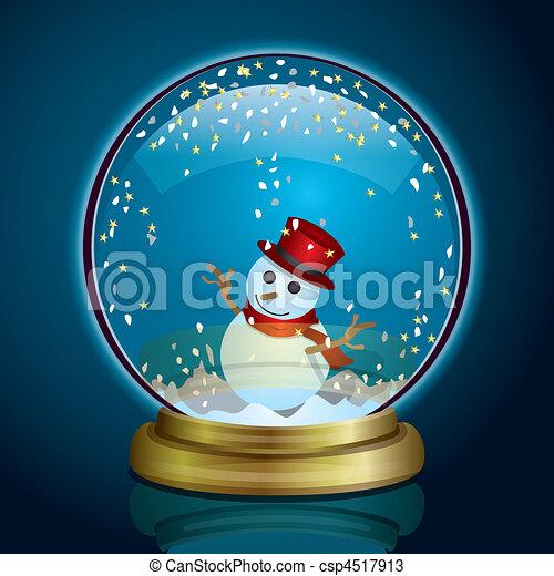 snow globe illustration vector